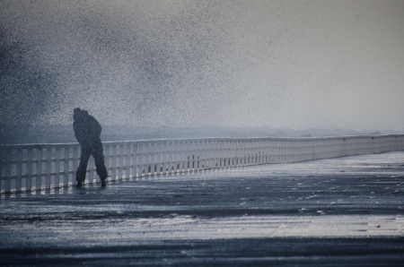 Sturm Welle Promenade